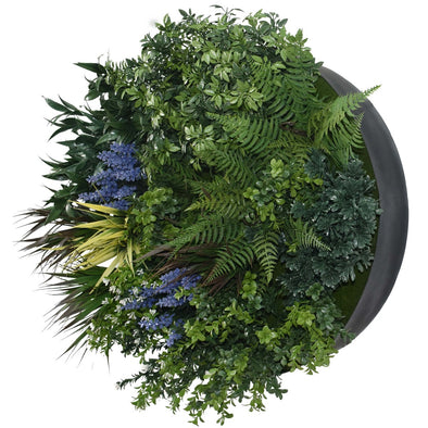 UV Lavender Fields 60cm Green Wall Disc (Black)