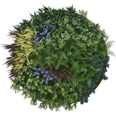 UV Lavender Fields Green Wall Disc (Black) 100cm