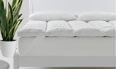 Royal Comfort Duck Feather and Down Mattress Toppers / King (750 GSM)