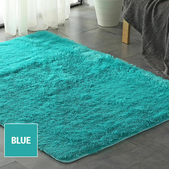 Designer Soft Shag Shaggy Floor Confetti Rug Carpet Home Decor 160x200cm Blue