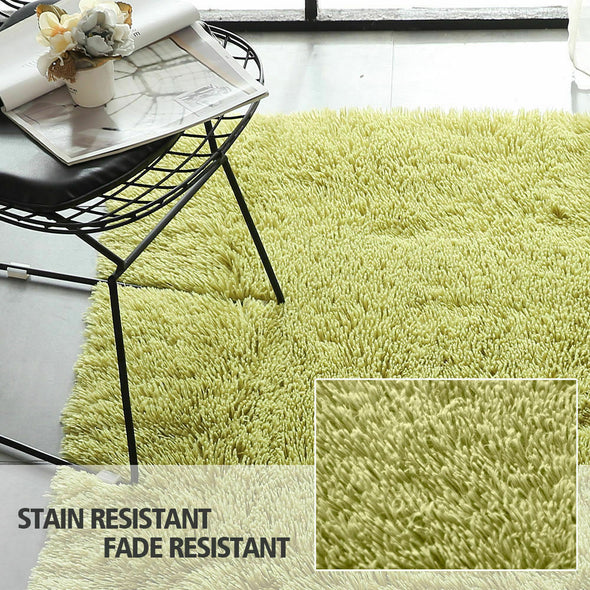 Designer Soft Shag Shaggy Floor Confetti Rug Carpet Home Decor 300x200cm Green
