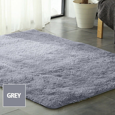 Designer Soft Shag Shaggy Floor Confetti Rug Carpet Home Decor 300x200cm Grey