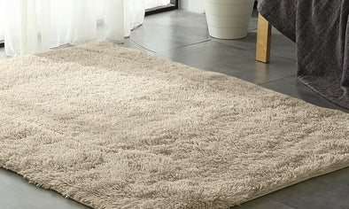 Designer Soft Shag Shaggy Floor Confetti Rug Carpet Home Decor 160x230cm Cream
