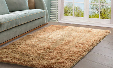 Designer Soft Shag Shaggy Floor Confetti Rug Carpet Home Decor 160x230cm Tan