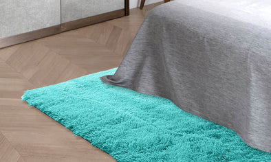 Designer Soft Shag Shaggy Floor Confetti Rug Carpet Home Decor 120x160cm Blue