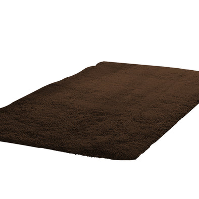 Designer Soft Shag Shaggy Floor Confetti Rug Carpet Home Decor 200x230cm Coffee