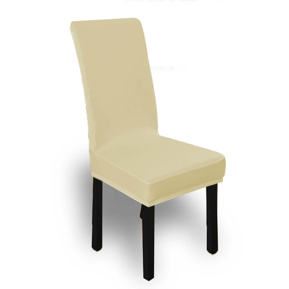 4x Stretch Elastic Chair Covers Dining Room Wedding Banquet Washable Champagne
