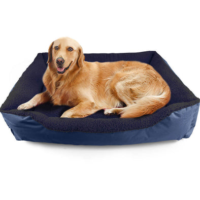 Pawz Pet Bed Mattress Dog Cat Pad Mat Cushion Soft Winter Warm Large Blue