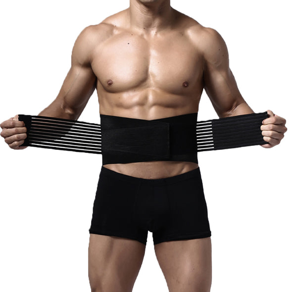 Lumbar and Back Support Belt Brace Strap Pain Relief Posture Waist Trimmer M