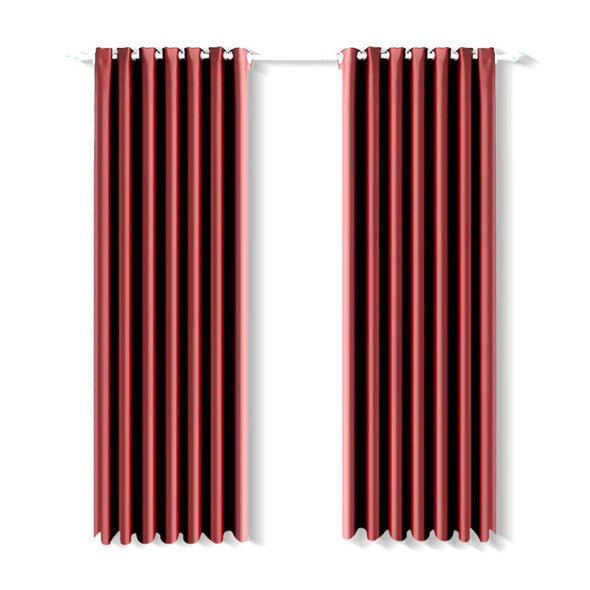 2x Blockout Curtains Panels Blackout 3 Layers Eyelet Room Darkening  180x213cm