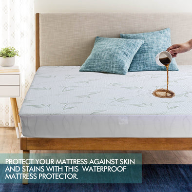DreamZ Fitted Waterproof Bed Mattress Protectors Covers Double