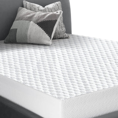 DreamZ Fitted Waterproof Mattress Protectors Quilted Honeycomb Topper Covers S