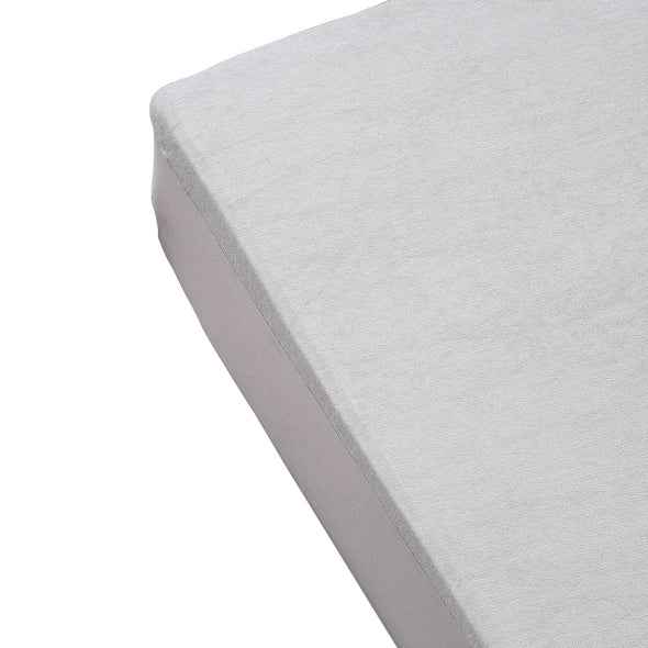 DreamZ Baby Cot 69x130x18cm 100% Cotton Stripe Waterproof Mattress Protector