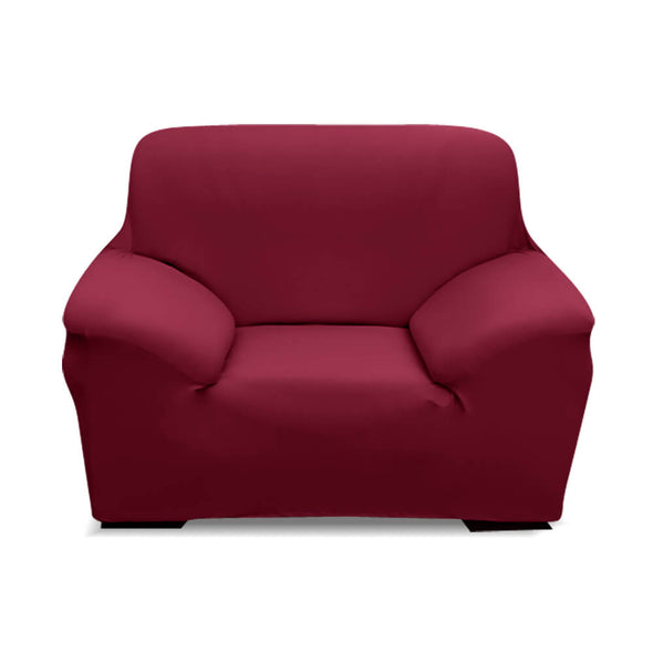 Easy Fit Stretch Couch Sofa Slipcovers Protectors Covers 1 Seater Burgundy