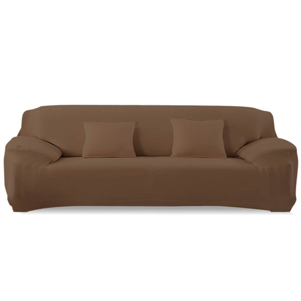Easy Fit Stretch Couch Sofa Slipcovers Protectors Covers 4 Seater Taupe
