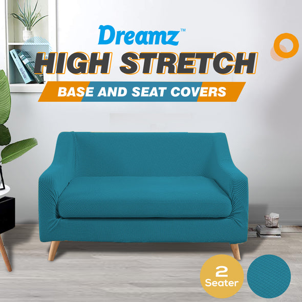DreamZ Couch Sofa Seat Covers Stretch Protectors Slipcovers 2 Seater Green