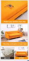 DreamZ Couch Sofa Seat Covers Stretch Protectors Slipcovers 3 Seater Orange