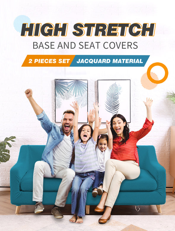 DreamZ Couch Sofa Seat Covers Stretch Protectors Slipcovers 4 Seater Green