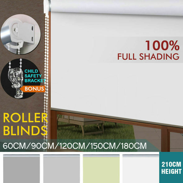 Quality Modern Blockout Roller Blinds Curtain Full Sun Shading Room Darkening