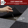 20x Carpet Tiles Commercial Grade Domestic Home Office Flooring 50x50cm Grey