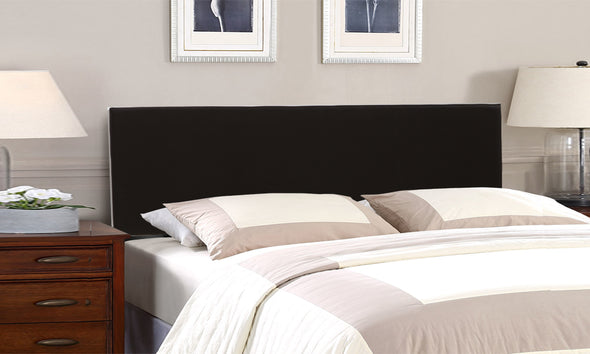 Levede PU Leather Bed Headboard with Wooden Legs in Double Size in Black Colour