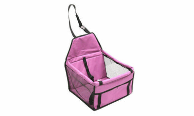 PINK PaWz Pet Car Booster Seat Puppy Cat Dog Auto Carrier Travel Protector Safety
