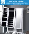 Levede Dual Use Mirrored Jewellery Dressing Cabinet in White Colour