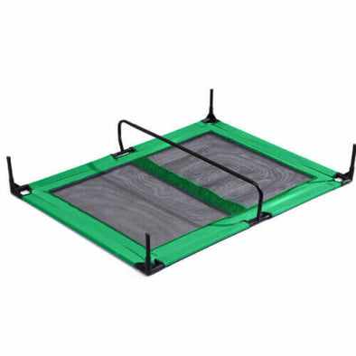 PaWz Heavy Duty Pet Bed Trampoline Dog Puppy Cat Hammock Mesh  Canvas XL Green
