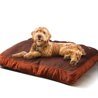 PaWz Pet Bed Mattress Dog Cat Pad Mat Puppy Cushion Soft Warm Washable M Brown