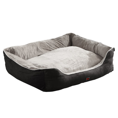 PaWz Grey Large Soft Pet Bed Mattress with Removable Cover
