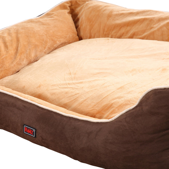 PaWz Deluxe Soft Pet Bed Mattress with Removable Cover Size X Large in Brown Colour