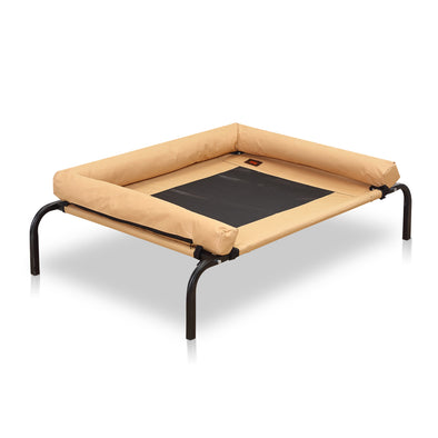PaWz Large Tan Heavy Duty Pet Bed Bolster Trampoline