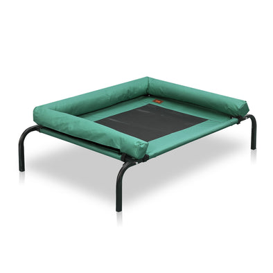 PaWz Medium Green Heavy Duty Pet Bed Bolster Trampoline
