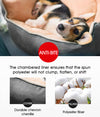 PaWz Size L Grey Colour Pet Bed Deluxe Soft Cushion Mat Pad High Back Support