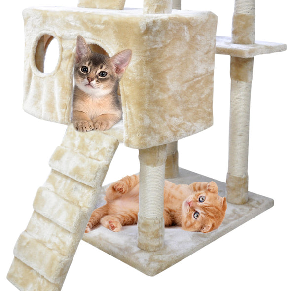 PaWz 1,8M Cat Scratching Post Tree Gym House Condo Furniture Scratcher Pole