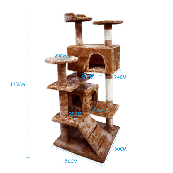 PaWz Pet Cat Tree Scratching Post Scratcher Trees Gym House Condo Furniture Wood