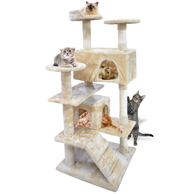PaWz Pet Cat Tree Scratching Post Scratcher Trees Pole Gym Condo Furniture Wood