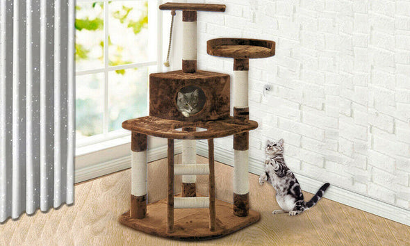 PaWz Pet Cat Tree Scratching Post Scratcher Trees Pole Gym Condo Furniture Gifts