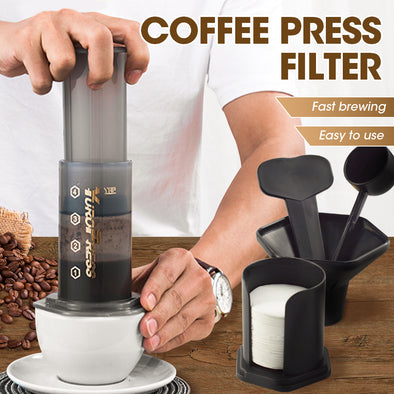 Coffee & Expresso Maker Kit with 350 Filters - 100% Genuine