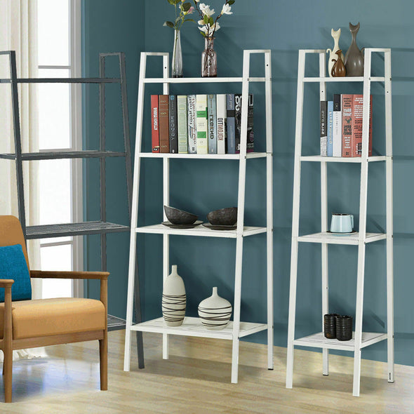 Levede 4 Tier Ladder Shelf Unit Bookshelf Bookcase Storage Display Rack Stand
