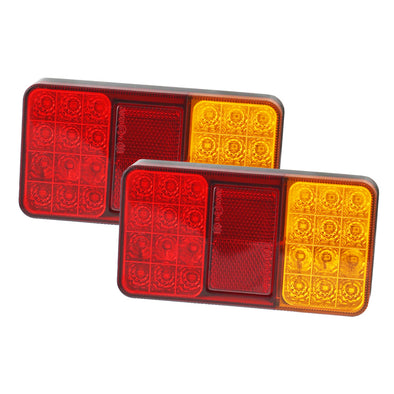 LED Trailer Tail Lights Indicator Lamp Trailer Caravan Submersible 12V