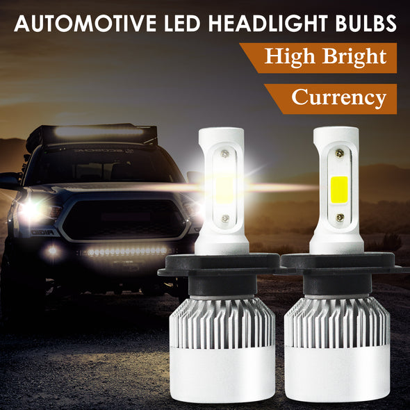 72W 9000LM H4 HB2 LED Headlight Kit Hi/Lo Beam Globe Bulbs 6500K White