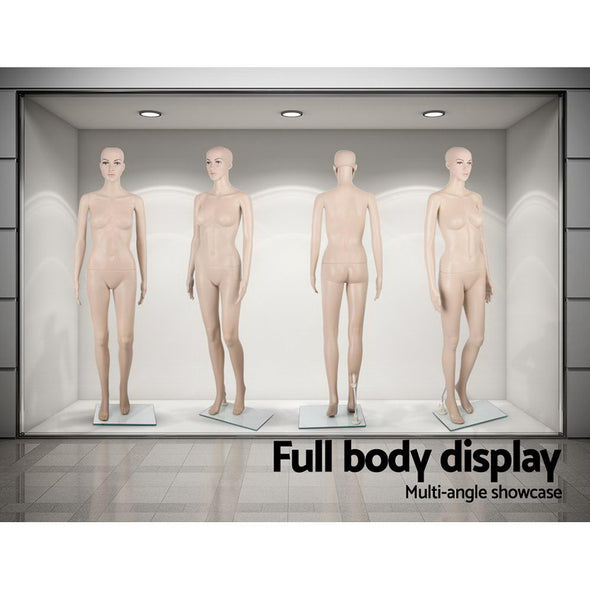 175cm Tall Full Body Female Mannequin - Skin Coloured