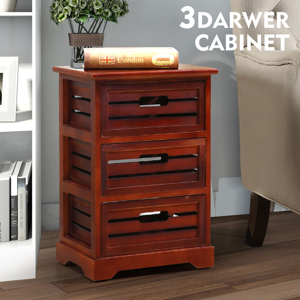 Levede Bedside Table Cabinet Lamp Side Nightstand Unit High Gloss Storage Shelf