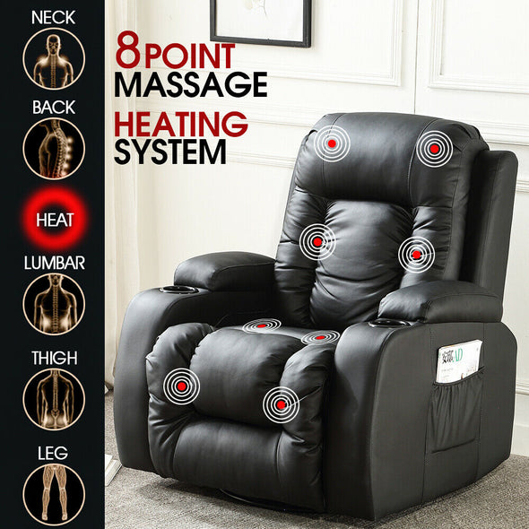 Levede Electric Massage Chair Zero Gravity Chairs Recliner Full Body Back Neck