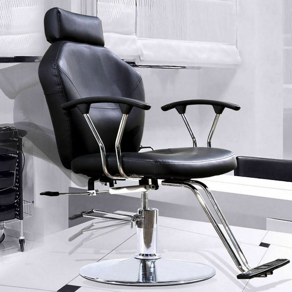 Reclining Barber Chair Shampoo Beauty Spa Hair Styling Salon Equipment