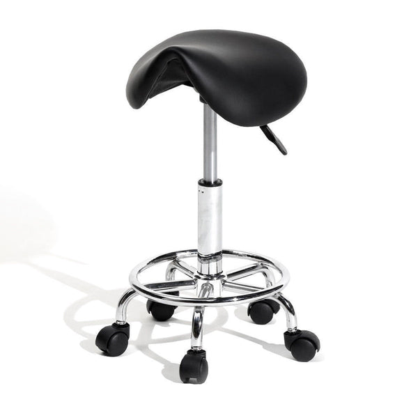 Saddle Salon Stool Bar Swivel Chair Massage Barber Hairdressing Hydraulic Lift