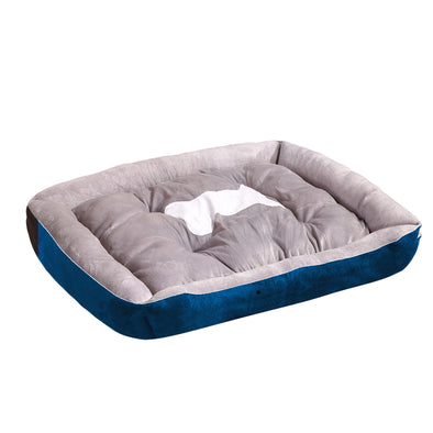 PaWz Heavy Duty Pet Bed Mattress in Size Large in Navy Blue Colour