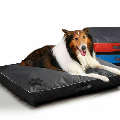 PaWz Pet Bed Mattress Dog Cat Pad Mat Summer Winter Cushion Pillow Size M Black