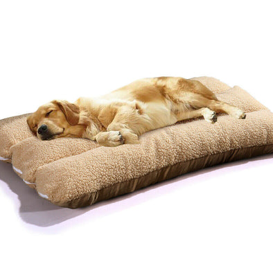 PaWz Warm Soft Pet Bed Mattress Dog Cat Pets Pad Mat Cushion Pillow Size L Beige